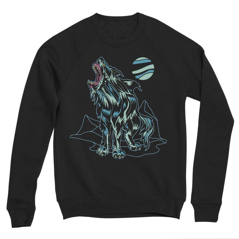 Shark Wolf 2018 Men's Sponge Fleece Sweatshirt by My Metal Hand Artist Shop