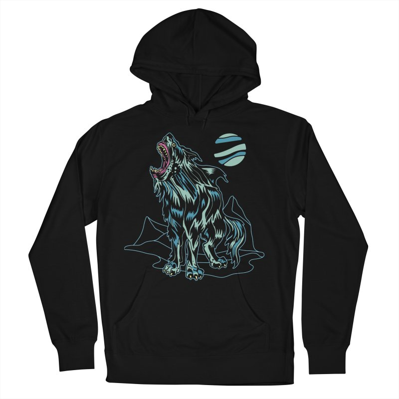 Shark Wolf 2018 Men's French Terry Pullover Hoody by My Metal Hand Artist Shop