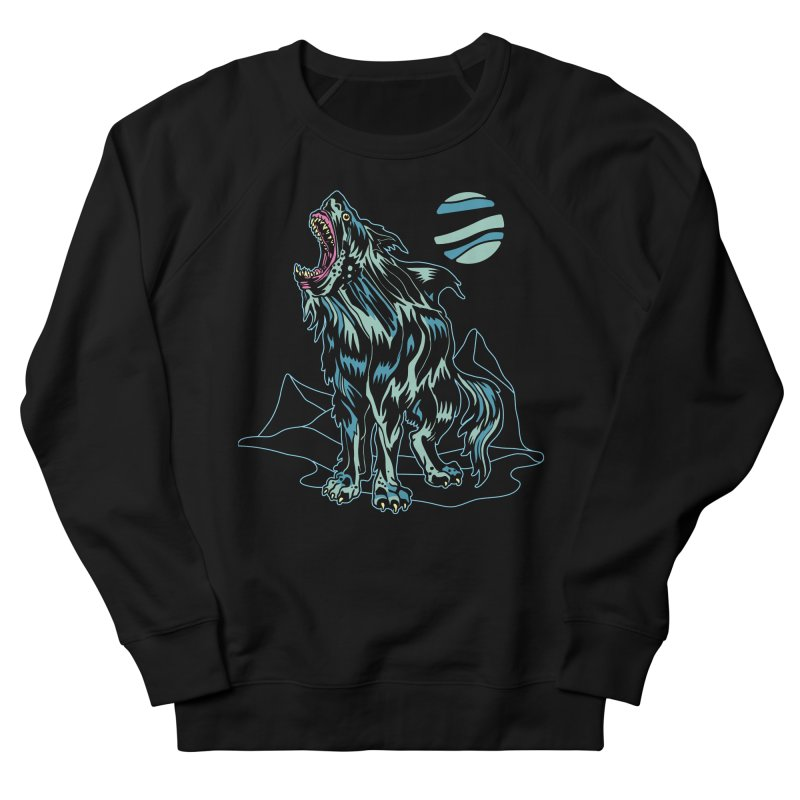 Shark Wolf 2018 Women's French Terry Sweatshirt by My Metal Hand Artist Shop