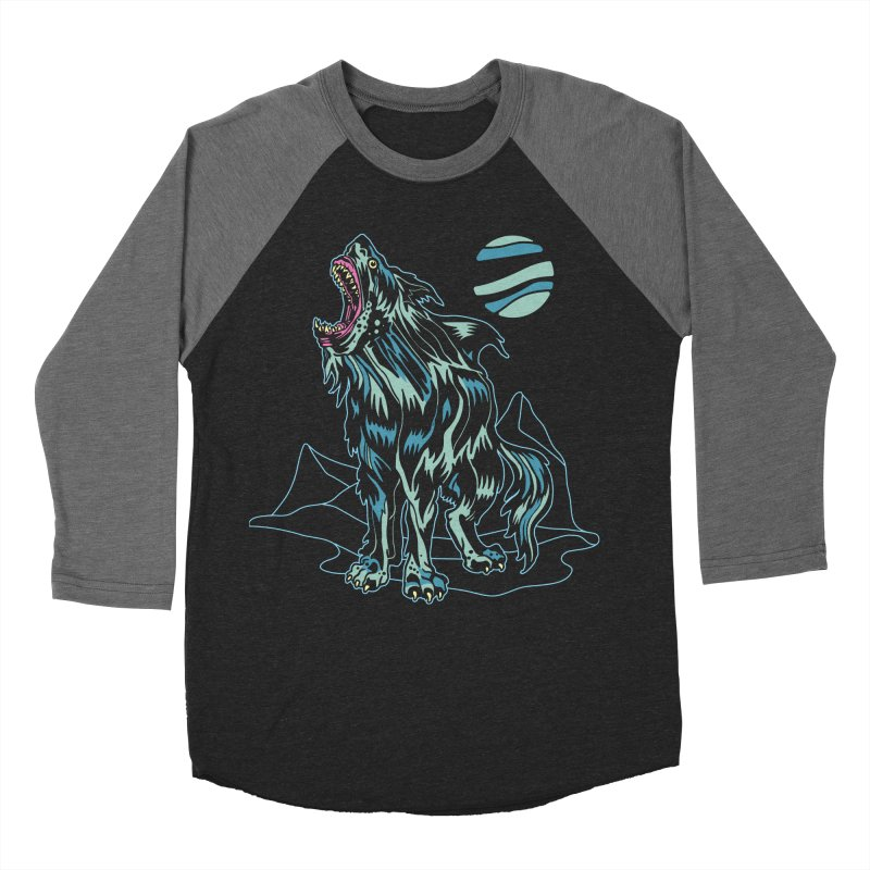 Shark Wolf 2018 Men's Baseball Triblend Longsleeve T-Shirt by My Metal Hand Artist Shop