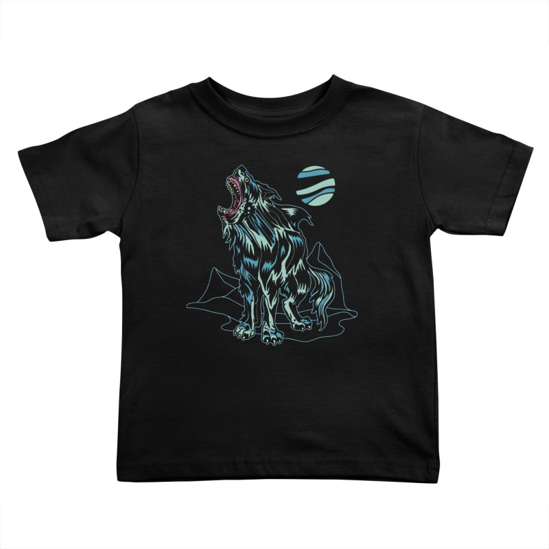 Shark Wolf 2018 Kids Toddler T-Shirt by My Metal Hand Artist Shop