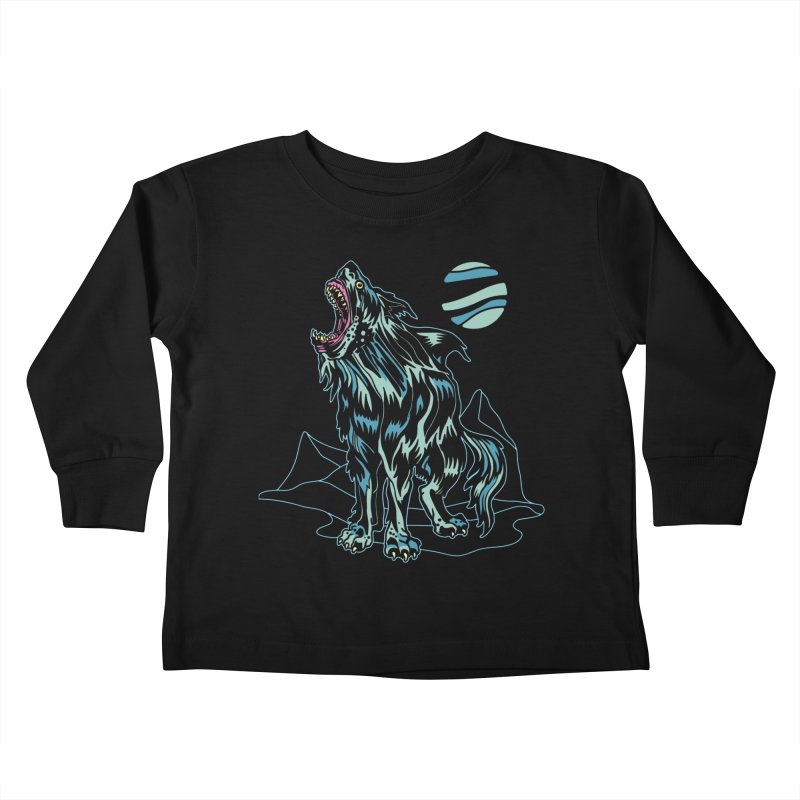Shark Wolf 2018 Kids Toddler Longsleeve T-Shirt by My Metal Hand Artist Shop