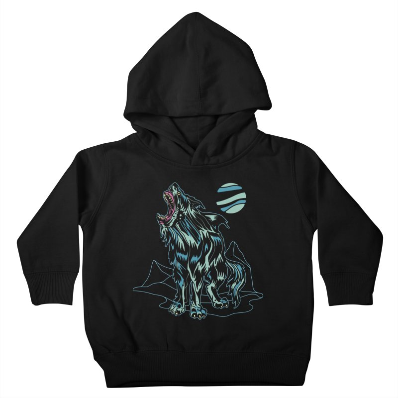 Shark Wolf 2018 Kids Toddler Pullover Hoody by My Metal Hand Artist Shop
