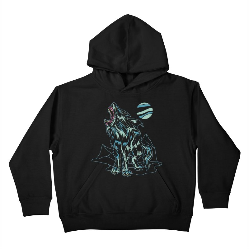 Shark Wolf 2018 Kids Pullover Hoody by My Metal Hand Artist Shop
