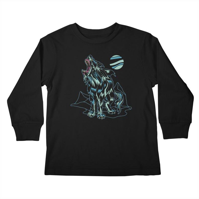 Shark Wolf 2018 Kids Longsleeve T-Shirt by My Metal Hand Artist Shop