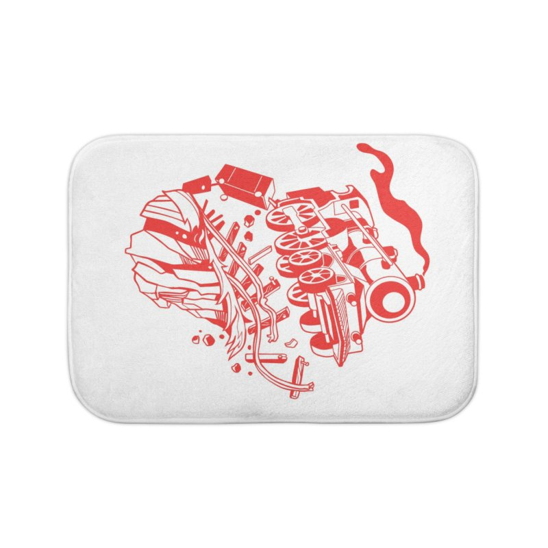 Off The Rails Home Bath Mat by My Metal Hand Artist Shop
