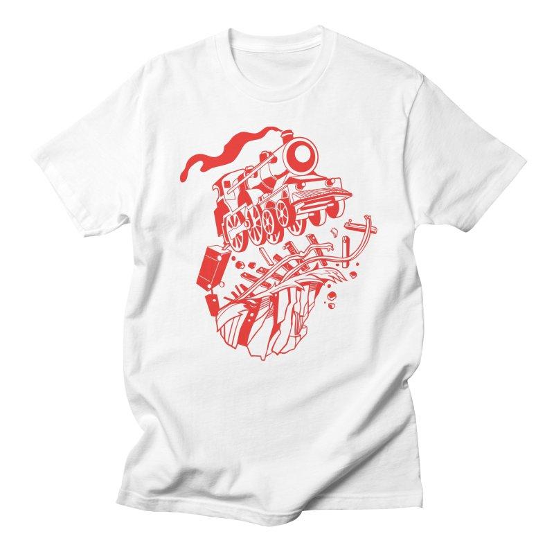 Off The Rails Women's Regular Unisex T-Shirt by My Metal Hand Artist Shop