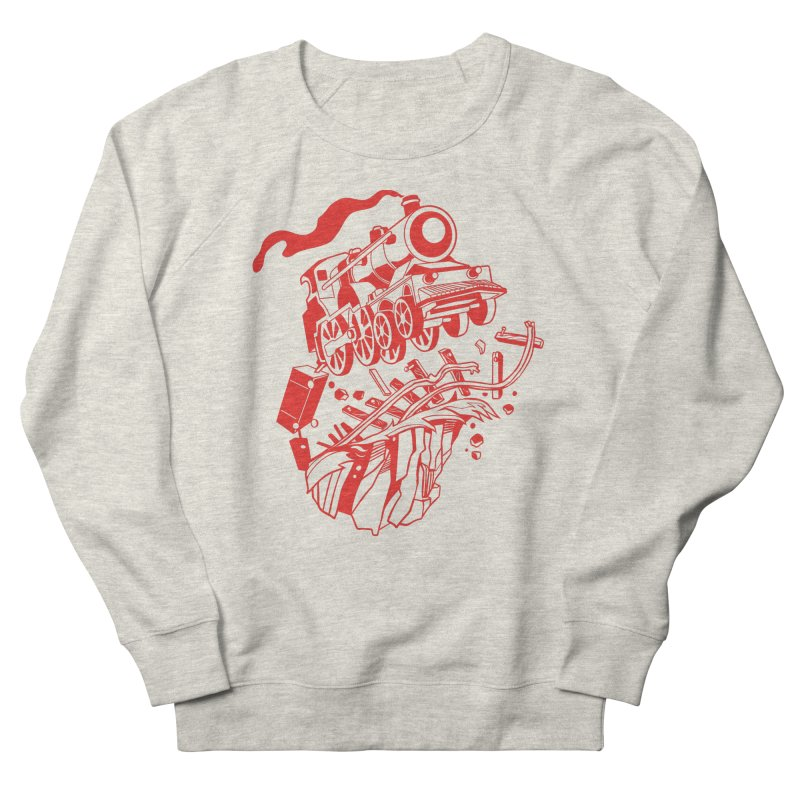Off The Rails Men's French Terry Sweatshirt by My Metal Hand Artist Shop