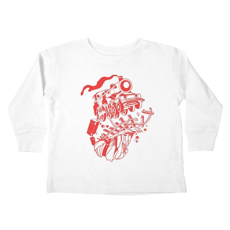 Off The Rails Kids Toddler Longsleeve T-Shirt by My Metal Hand Artist Shop