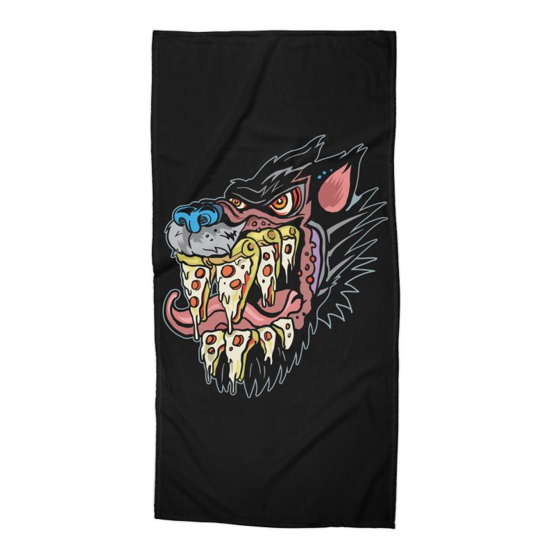 Slice Fang Accessories Beach Towel by My Metal Hand Artist Shop
