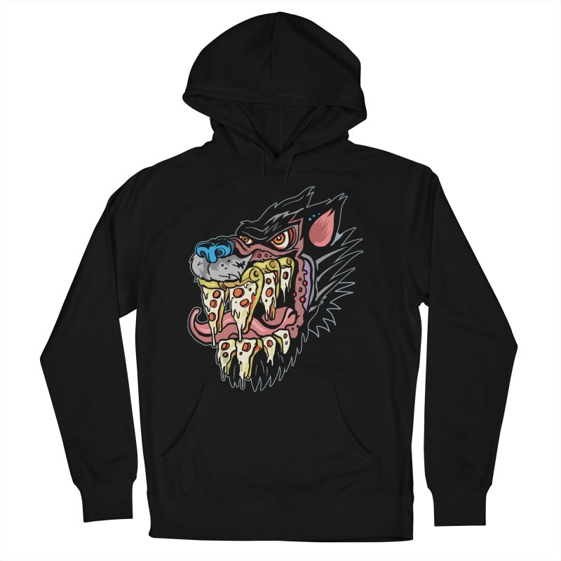 Slice Fang Men's French Terry Pullover Hoody by My Metal Hand Artist Shop