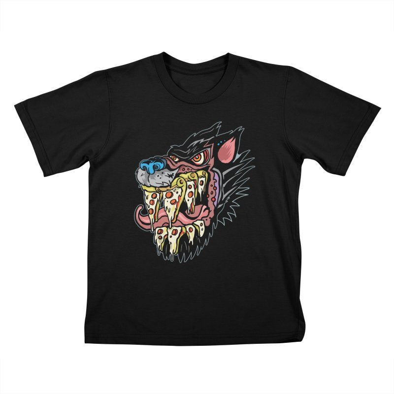 Slice Fang Kids T-Shirt by My Metal Hand Artist Shop