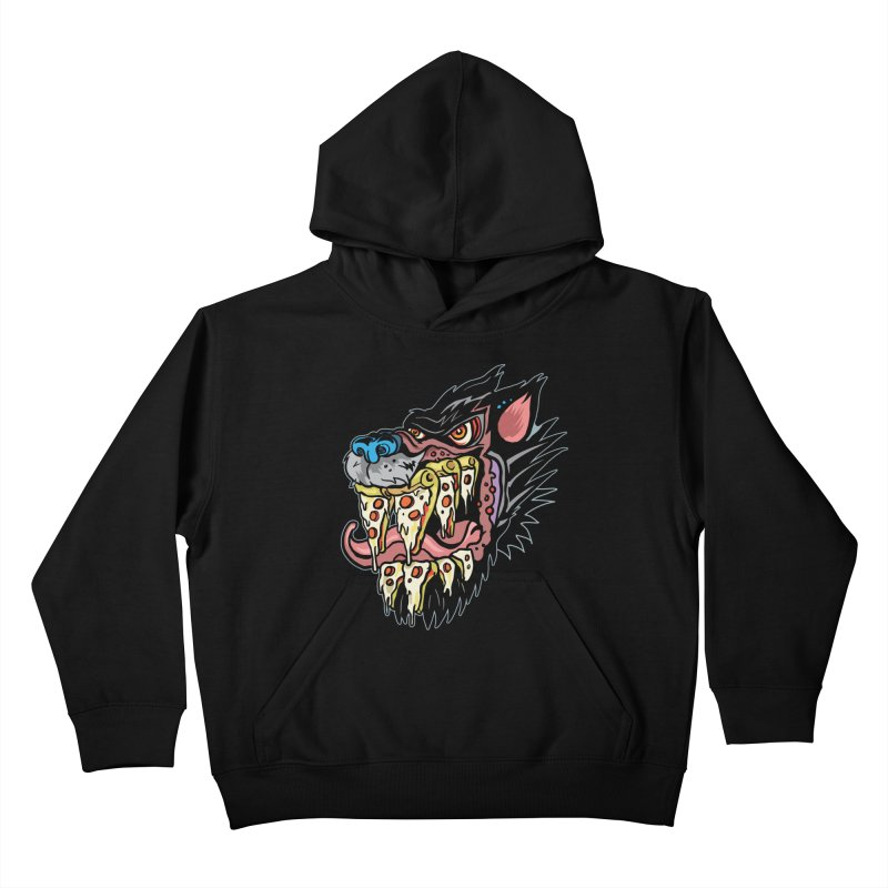 Slice Fang Kids Pullover Hoody by My Metal Hand Artist Shop