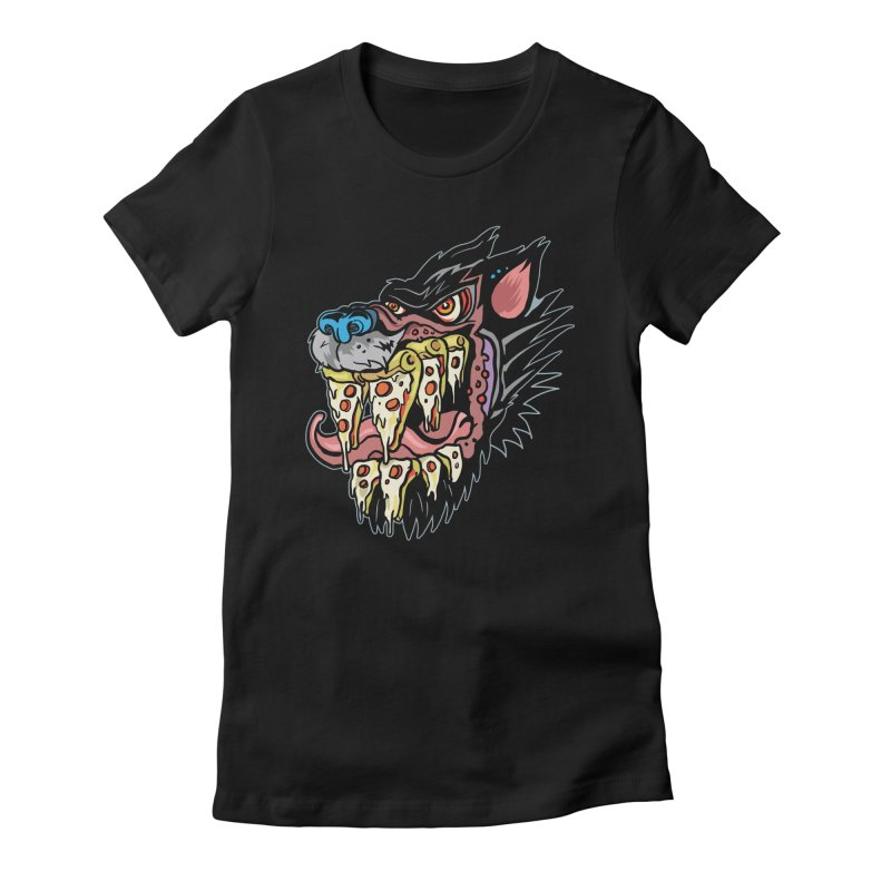 Slice Fang Women's Fitted T-Shirt by My Metal Hand Artist Shop