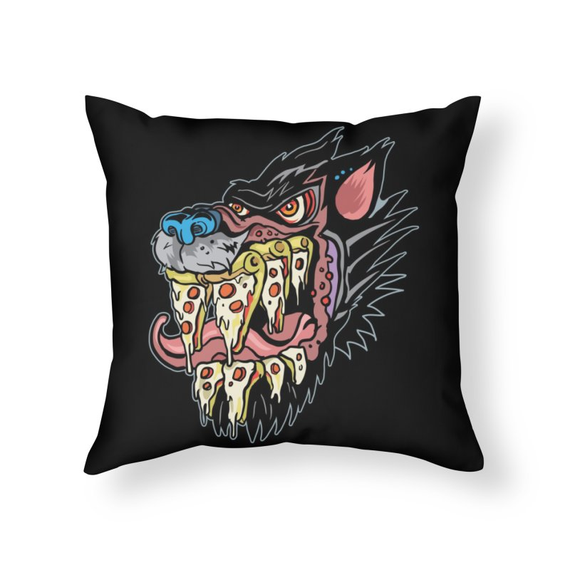 Slice Fang Home Throw Pillow by My Metal Hand Artist Shop