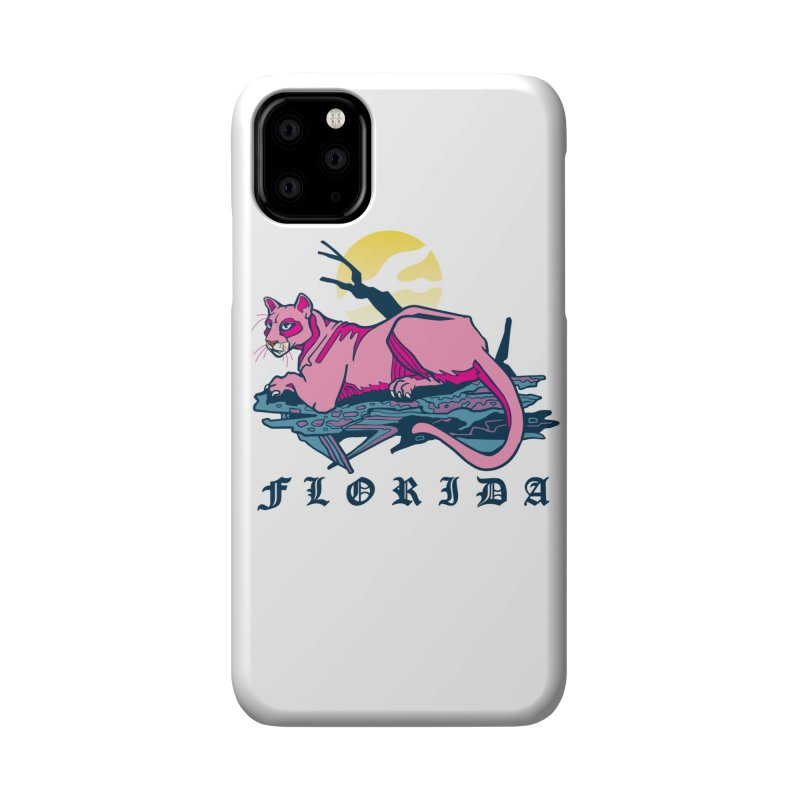 Florida Panther Accessories Phone Case by My Metal Hand Artist Shop