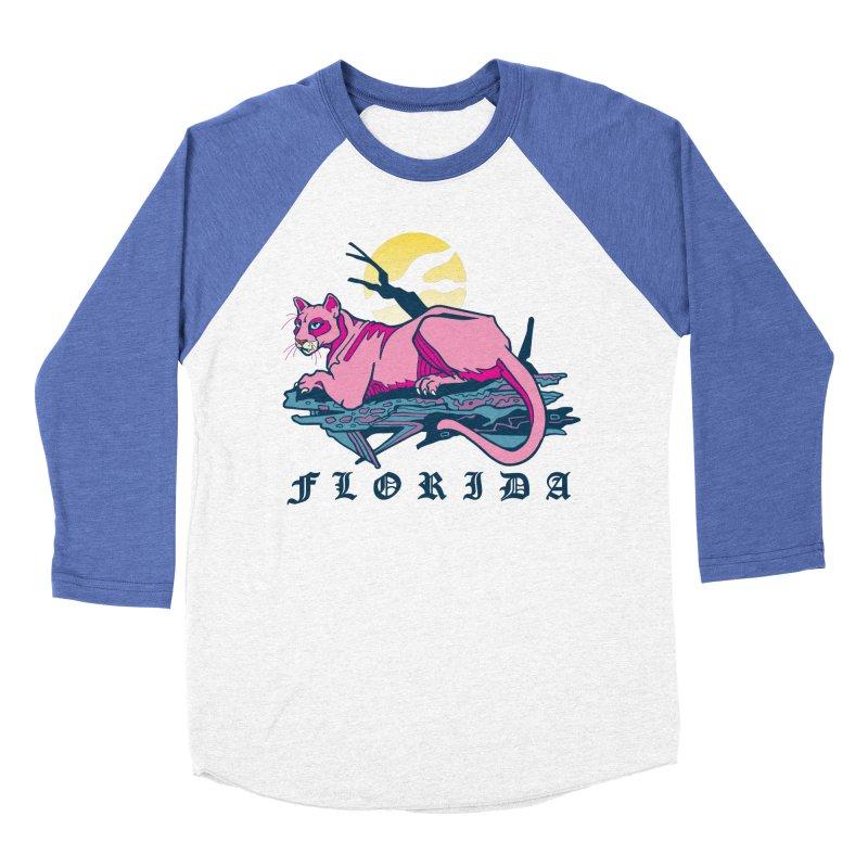 Florida Panther Men's Baseball Triblend Longsleeve T-Shirt by My Metal Hand Artist Shop