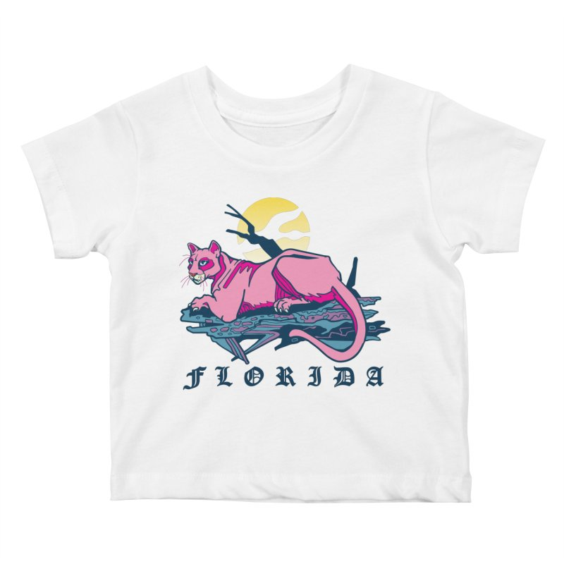 Florida Panther Kids Baby T-Shirt by My Metal Hand Artist Shop