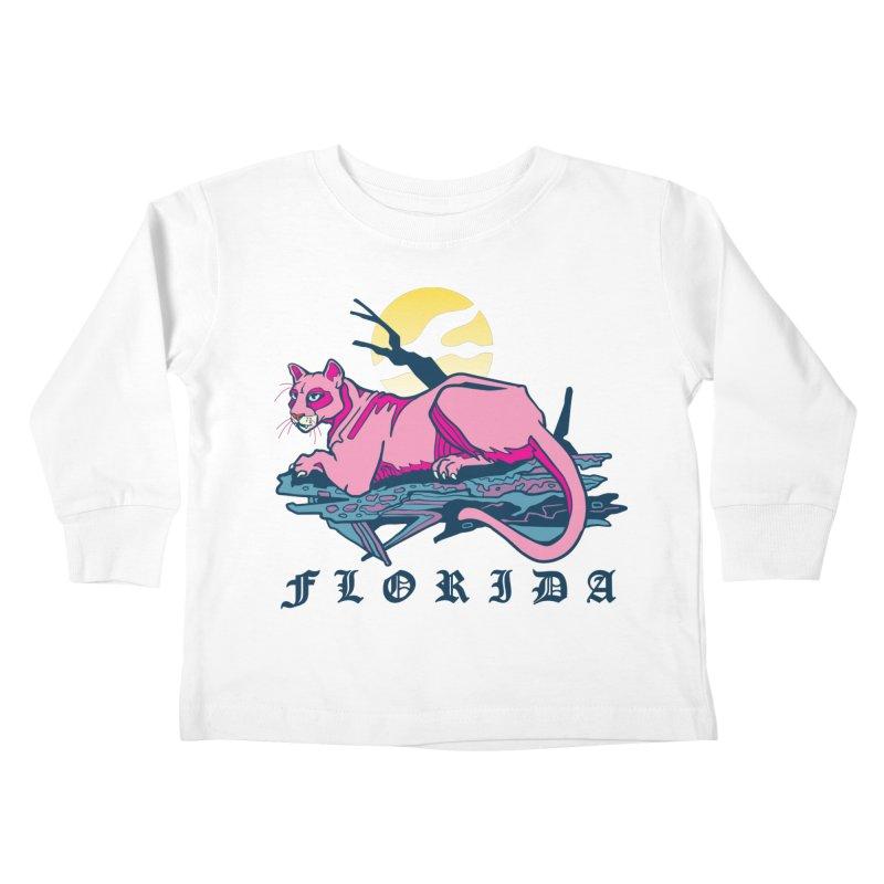 Florida Panther Kids Toddler Longsleeve T-Shirt by My Metal Hand Artist Shop