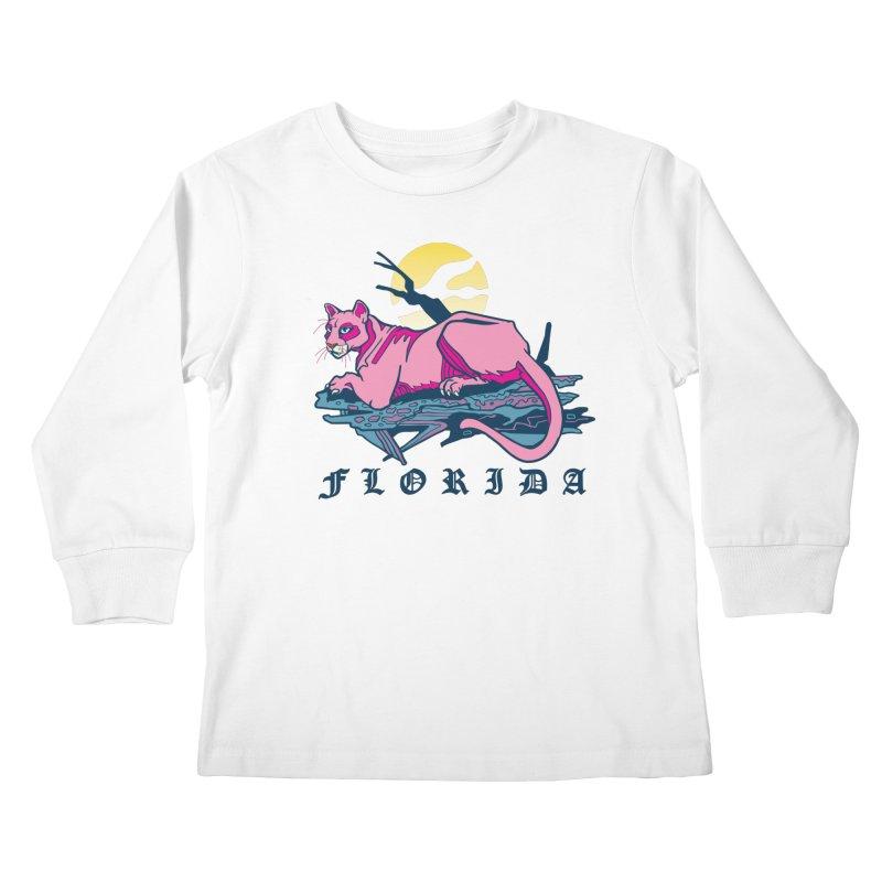 Florida Panther Kids Longsleeve T-Shirt by My Metal Hand Artist Shop