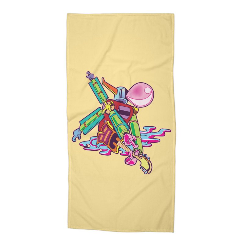 My Metal Windmill Accessories Beach Towel by My Metal Hand Artist Shop