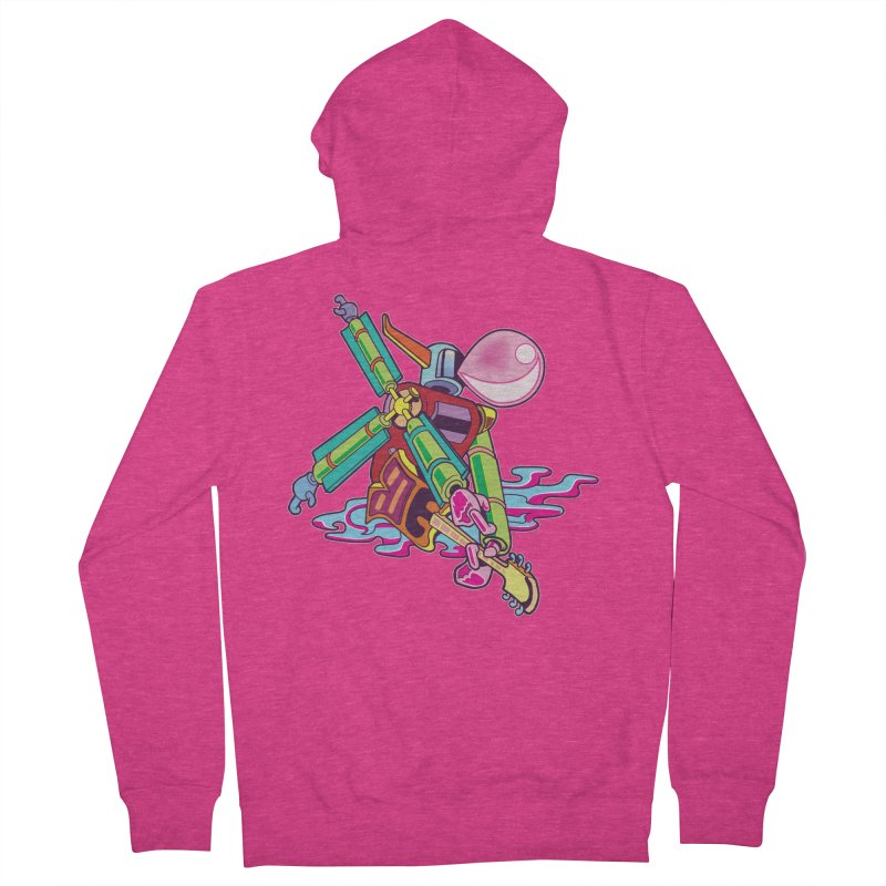 My Metal Windmill Women's French Terry Zip-Up Hoody by My Metal Hand Artist Shop