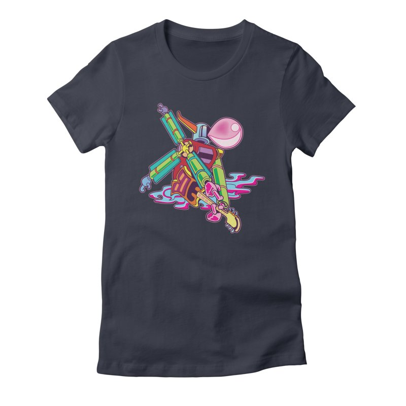 My Metal Windmill Women's Fitted T-Shirt by My Metal Hand Artist Shop