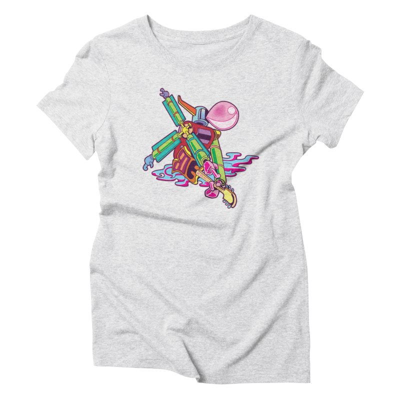 My Metal Windmill Women's Triblend T-Shirt by My Metal Hand Artist Shop