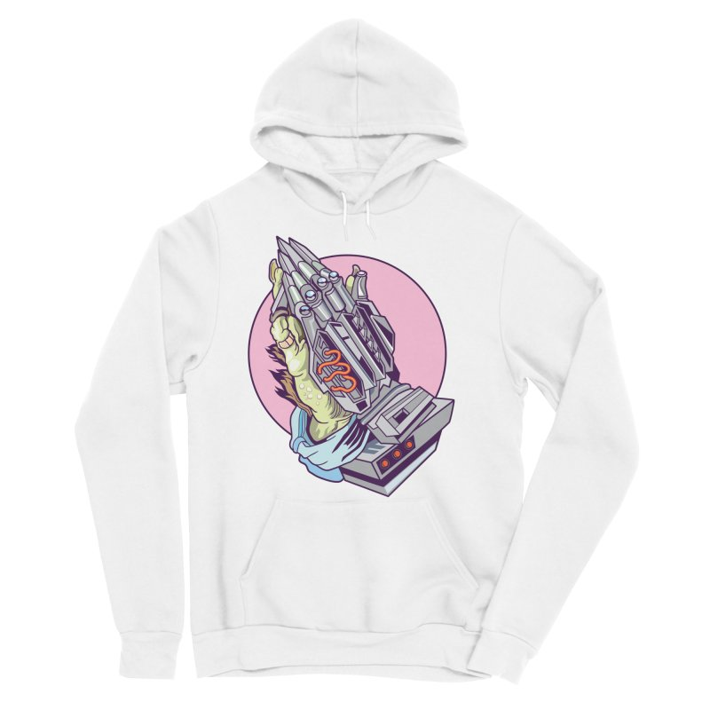 My Metal Prayer Men's Sponge Fleece Pullover Hoody by My Metal Hand Artist Shop