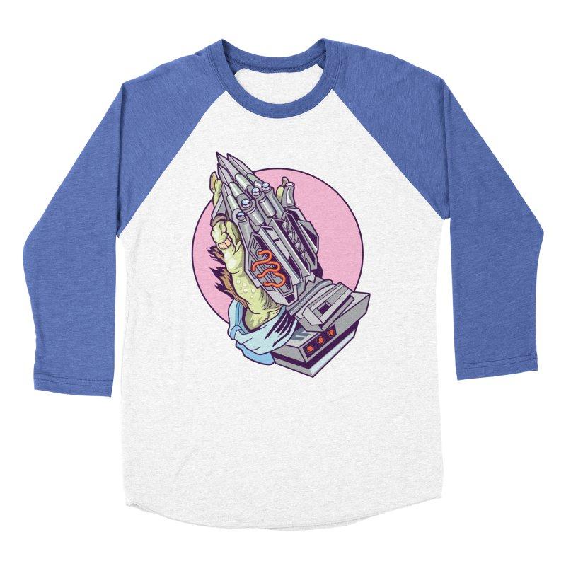 My Metal Prayer Men's Baseball Triblend Longsleeve T-Shirt by My Metal Hand Artist Shop