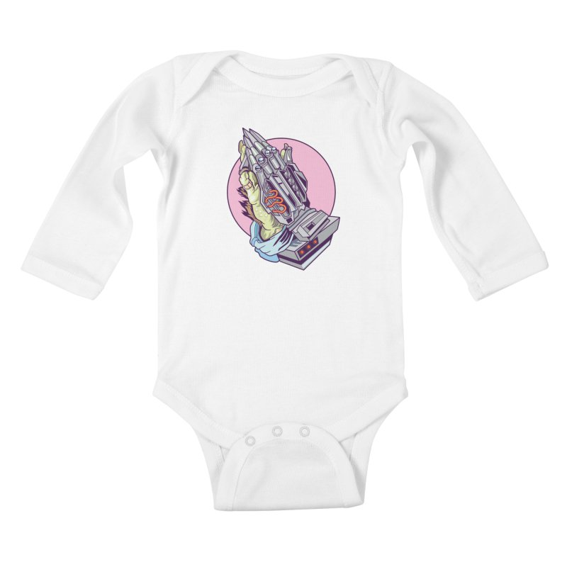 My Metal Prayer Kids Baby Longsleeve Bodysuit by My Metal Hand Artist Shop