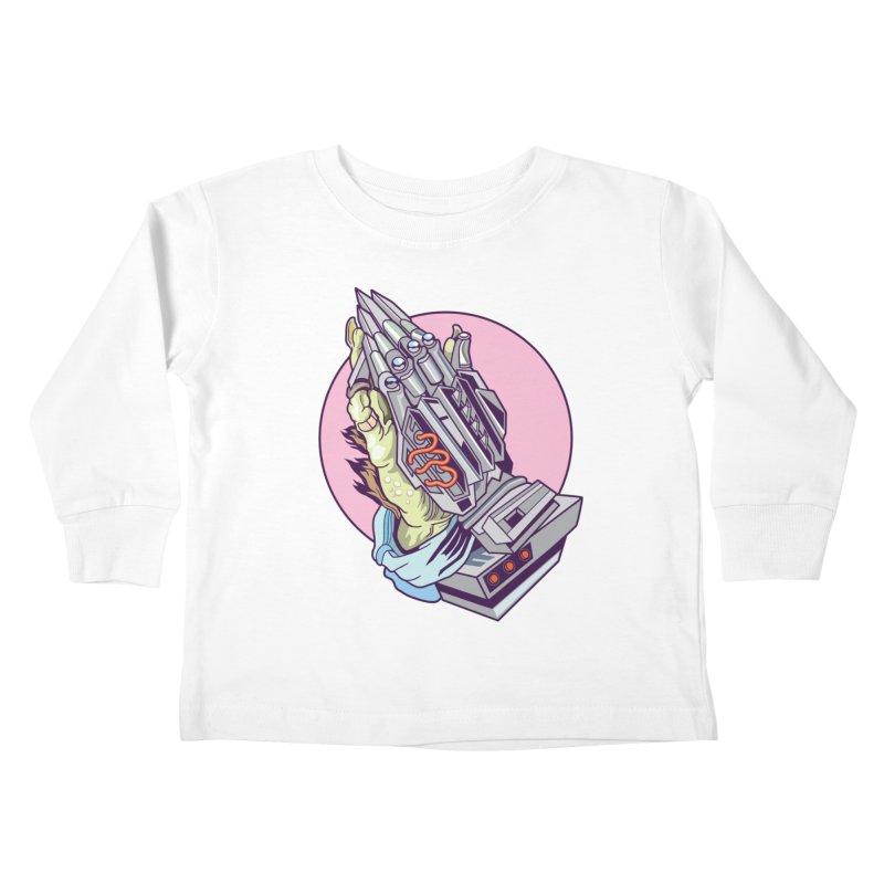 My Metal Prayer Kids Toddler Longsleeve T-Shirt by My Metal Hand Artist Shop