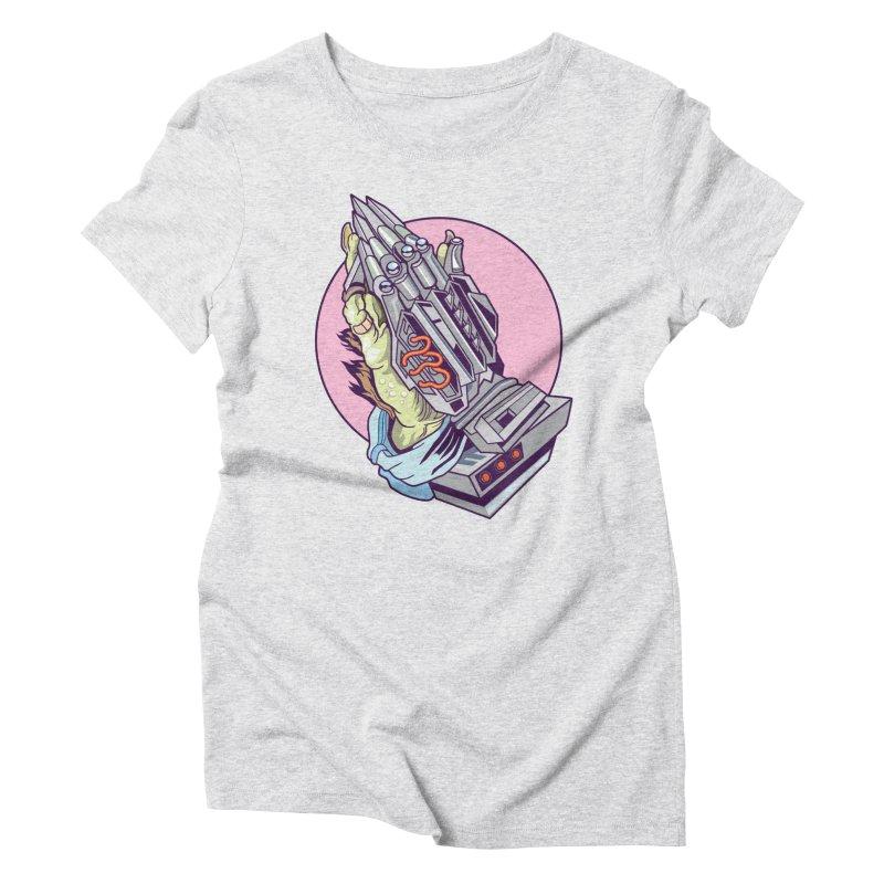 My Metal Prayer Women's Triblend T-Shirt by My Metal Hand Artist Shop