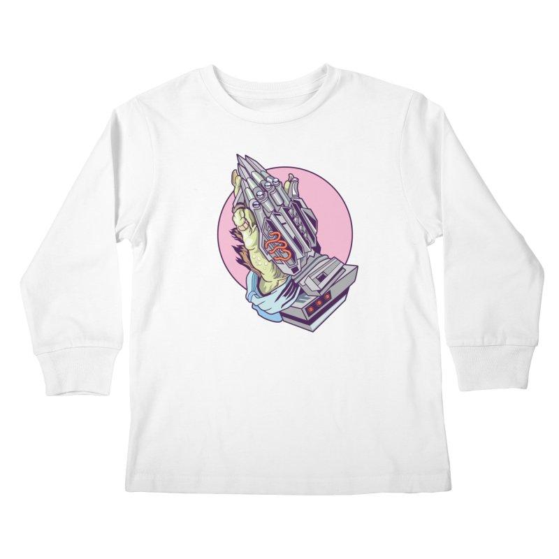 My Metal Prayer Kids Longsleeve T-Shirt by My Metal Hand Artist Shop