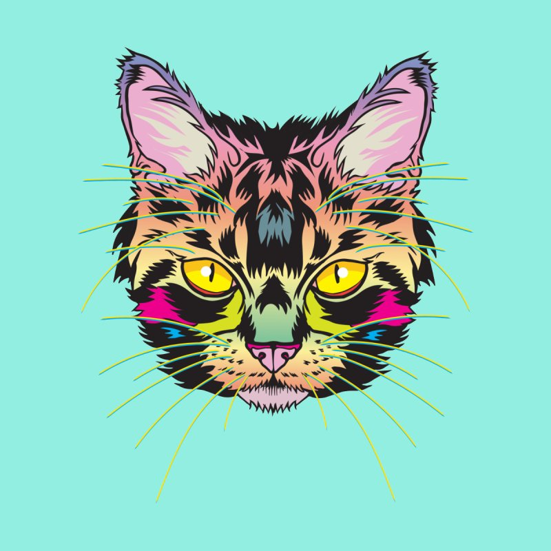 Neon Tabby by My Metal Hand Artist Shop