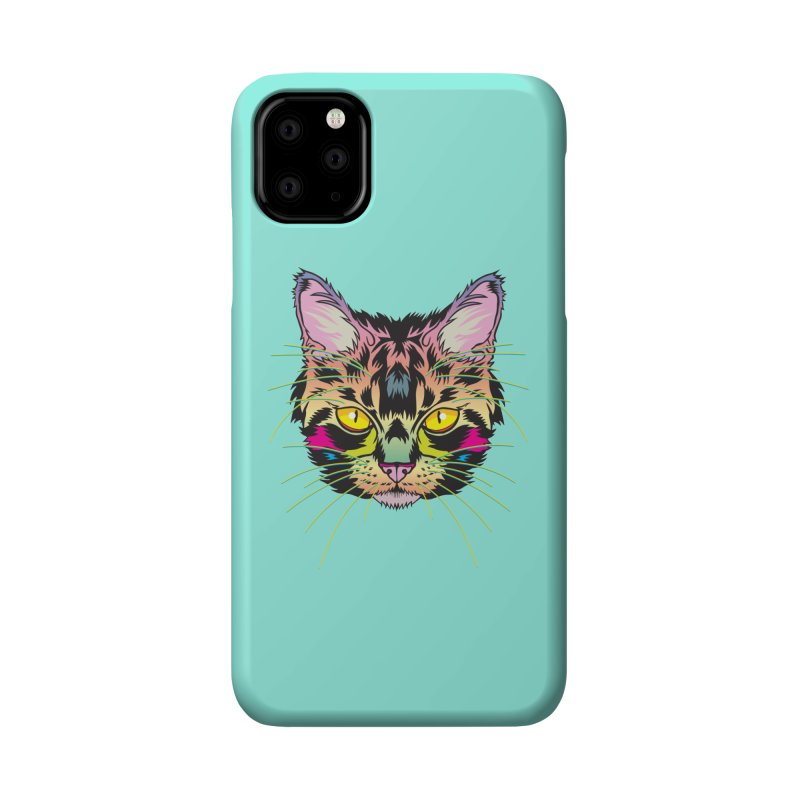 Neon Tabby Accessories Phone Case by My Metal Hand Artist Shop