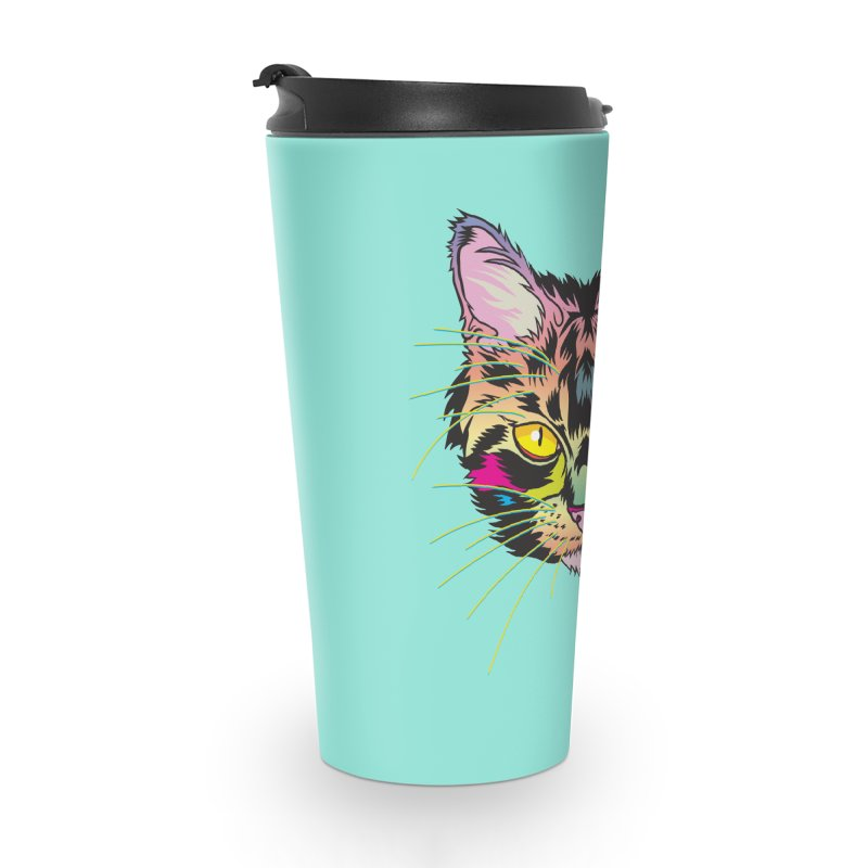 Neon Tabby Accessories Travel Mug by My Metal Hand Artist Shop