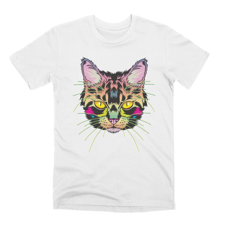 Neon Tabby Men's Premium T-Shirt by My Metal Hand Artist Shop