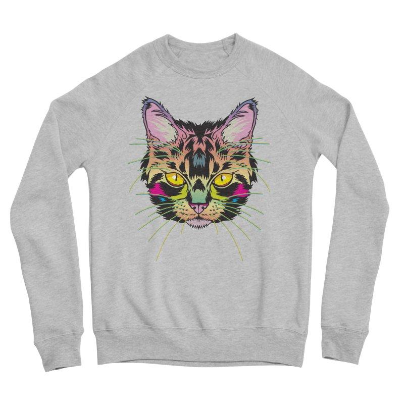 Neon Tabby Men's Sponge Fleece Sweatshirt by My Metal Hand Artist Shop