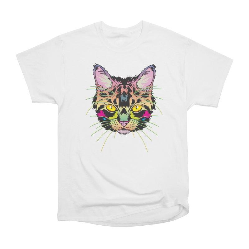 Neon Tabby Women's Heavyweight Unisex T-Shirt by My Metal Hand Artist Shop