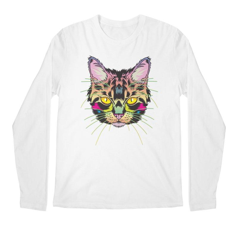 Neon Tabby Men's Regular Longsleeve T-Shirt by My Metal Hand Artist Shop