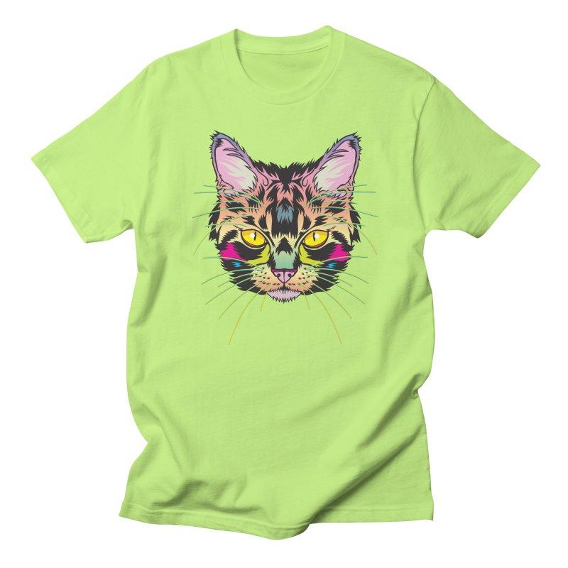 Neon Tabby Men's Regular T-Shirt by My Metal Hand Artist Shop