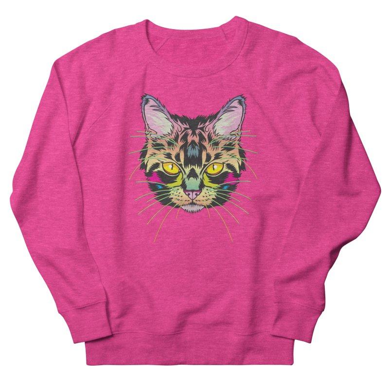 Neon Tabby Men's French Terry Sweatshirt by My Metal Hand Artist Shop