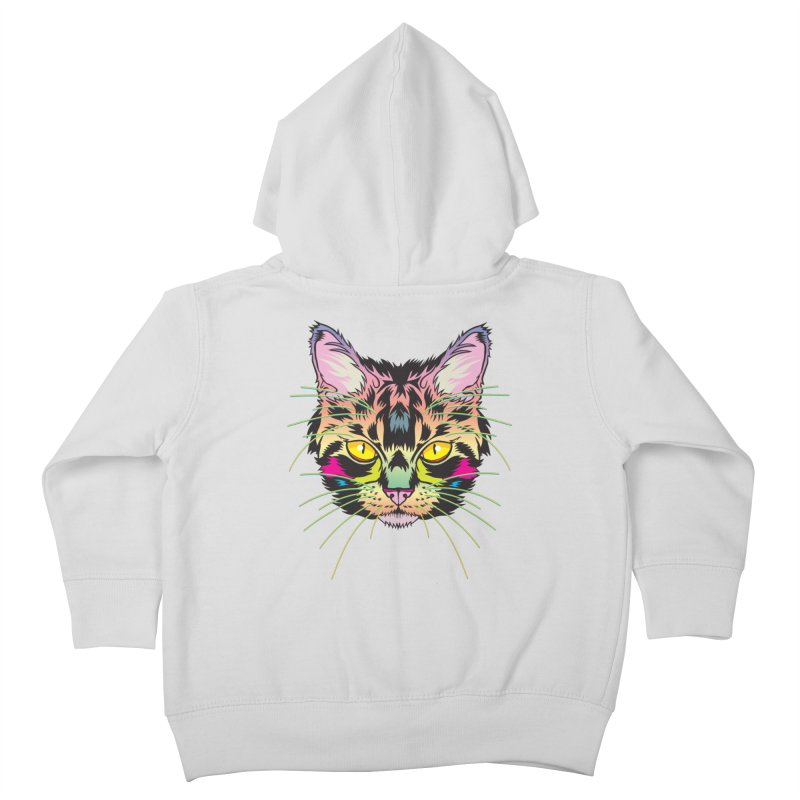 Neon Tabby Kids Toddler Zip-Up Hoody by My Metal Hand Artist Shop
