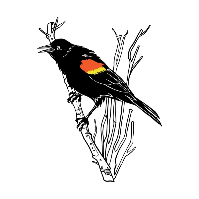 Red-Winged Blackbird by My Metal Hand Artist Shop