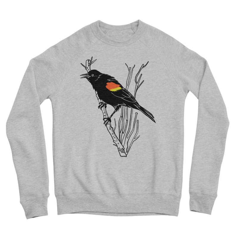 Red-Winged Blackbird Women's Sweatshirt by My Metal Hand Artist Shop