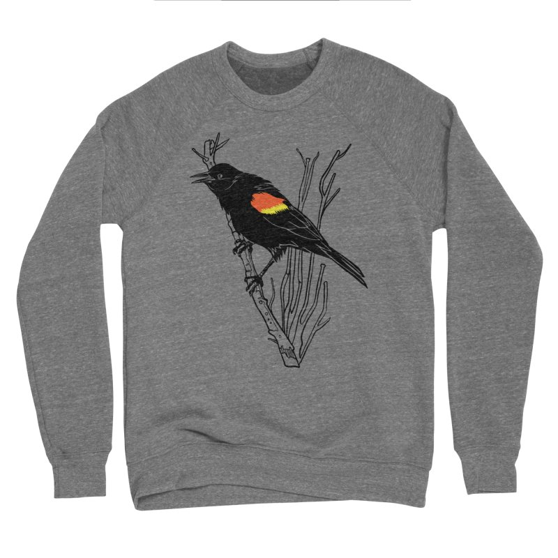 Red-Winged Blackbird Men's Sweatshirt by My Metal Hand Artist Shop