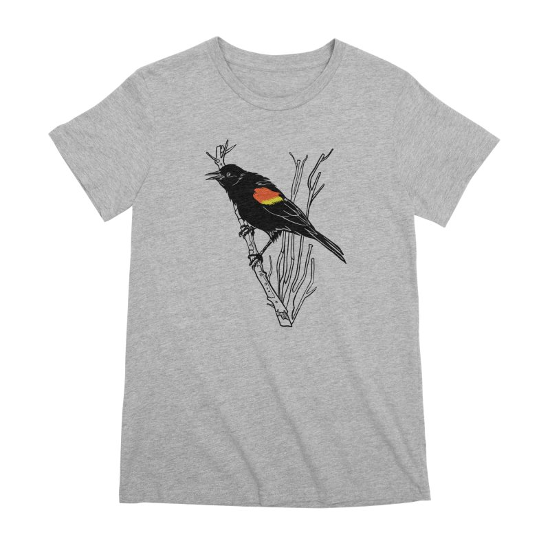 Red-Winged Blackbird Women's Premium T-Shirt by My Metal Hand Artist Shop