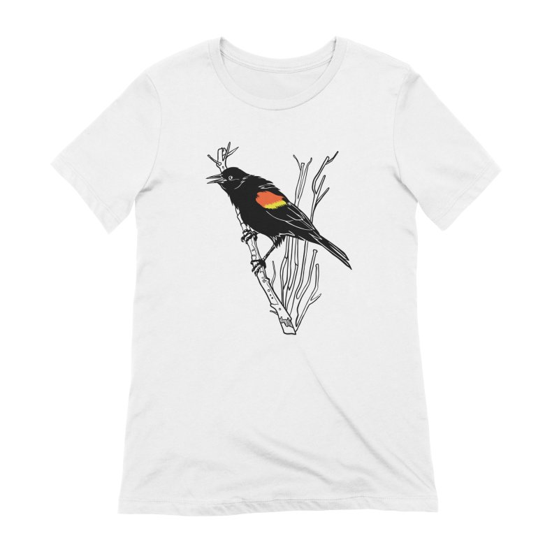 Red-Winged Blackbird Women's Extra Soft T-Shirt by My Metal Hand Artist Shop