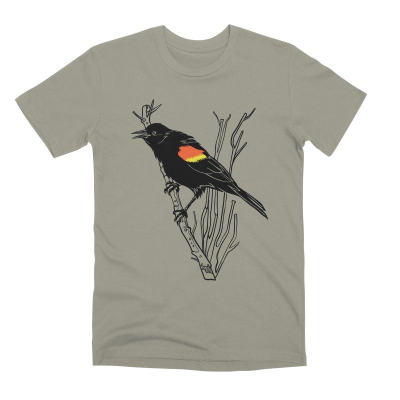 Red-Winged Blackbird Men's Premium T-Shirt by My Metal Hand Artist Shop
